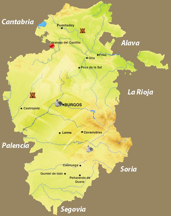Orbaneja Del Castillo Mapa.Orbaneja Del Castillo Orbaneja Del Castillo