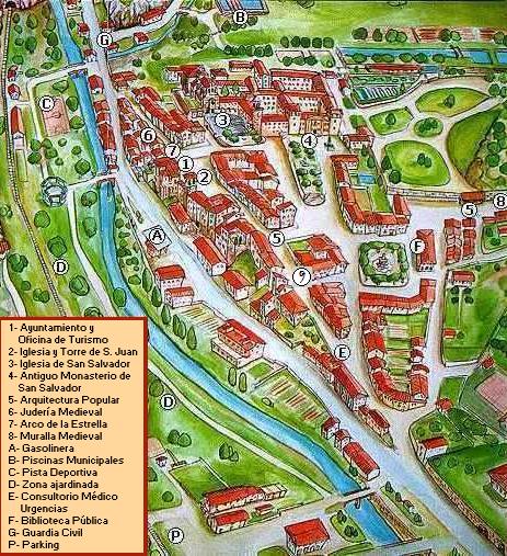 -Mapa turístico Hotel La Casona del Obispo- Oña (HUESCA)