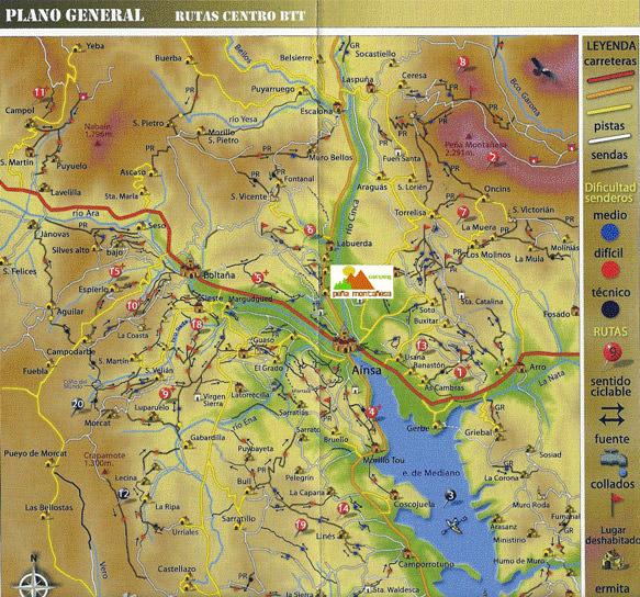 Mapa rutas enduro