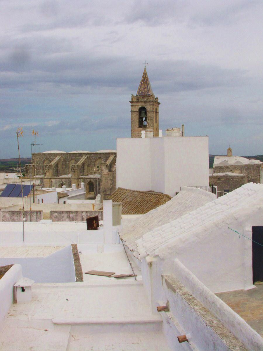 -Iglesia del Divino Salvador desde una azotea- Vejer de la Frontera