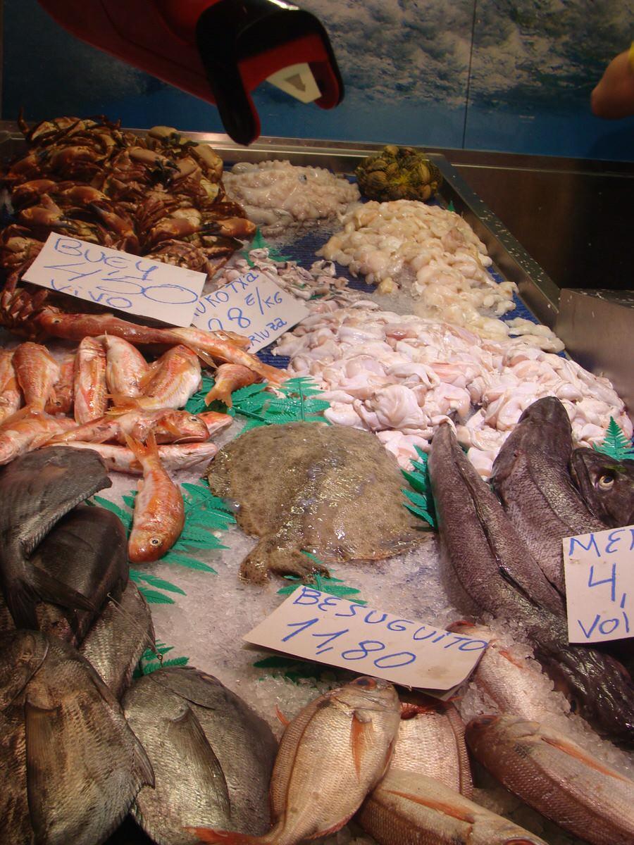 -Productos en el mercado de la Ribera, Bilbao-