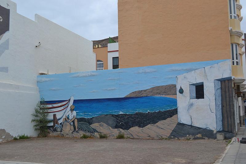 Mural en Tarajal, foto de pateatenerife.com